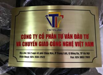 Làm biển công ty - Dịch vụ làm biển, bảng quảng cáo giá rẻ tại Hà Nội